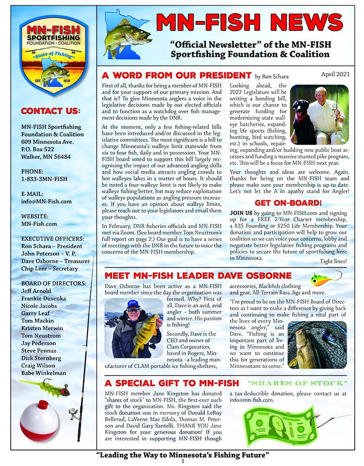 MN-FISH Newsletter - April 2021